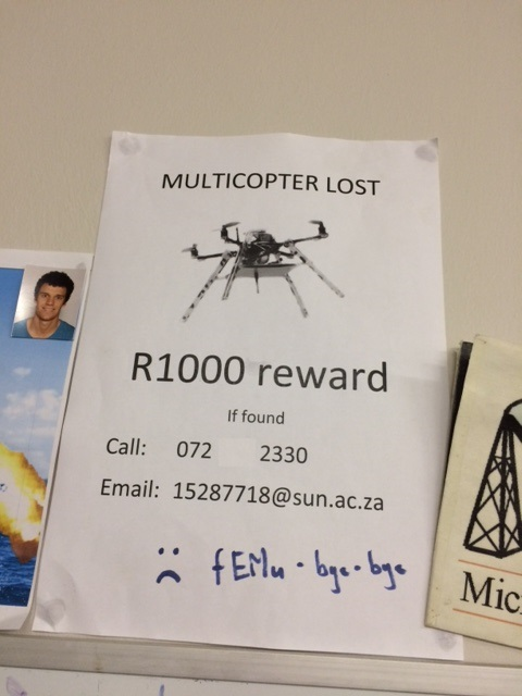 Reward if found poster for the disappearance of FEMU 1.0