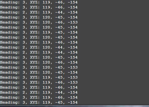 Command Line Interface magnetometer test data